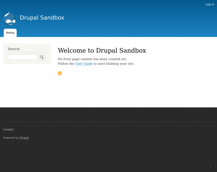 Drupal8 default theme
